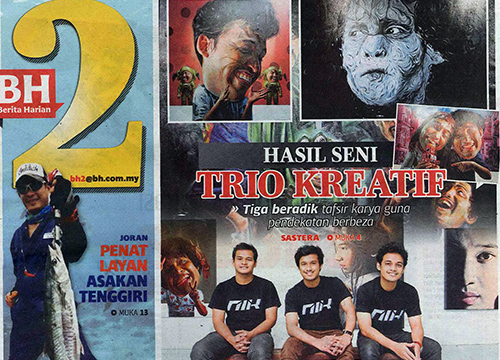 Art Trio: The Nik Brothers was listing in Berita Harian on April 2015
