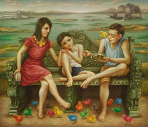 Greeting From The Jolly Lake 120x140cm Oil on Canvas 2015 Siund Tan RM15,000