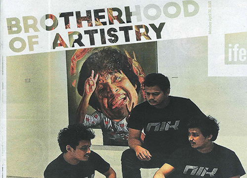 Art Trio: The Nik Brothers was listing in Malay Mail on April 2015