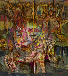 Mercurial times, Disenchantment of hope 170.5x153cm Oil Pastel and Oil bar on canvas 2015 Marvin Chan RM29,000