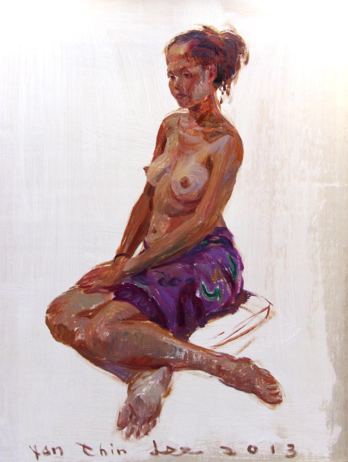 Sitting Balinese Girl Facing Left