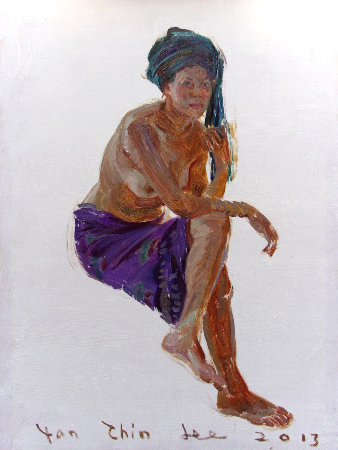 Sitting Balinese Girl Facing Right