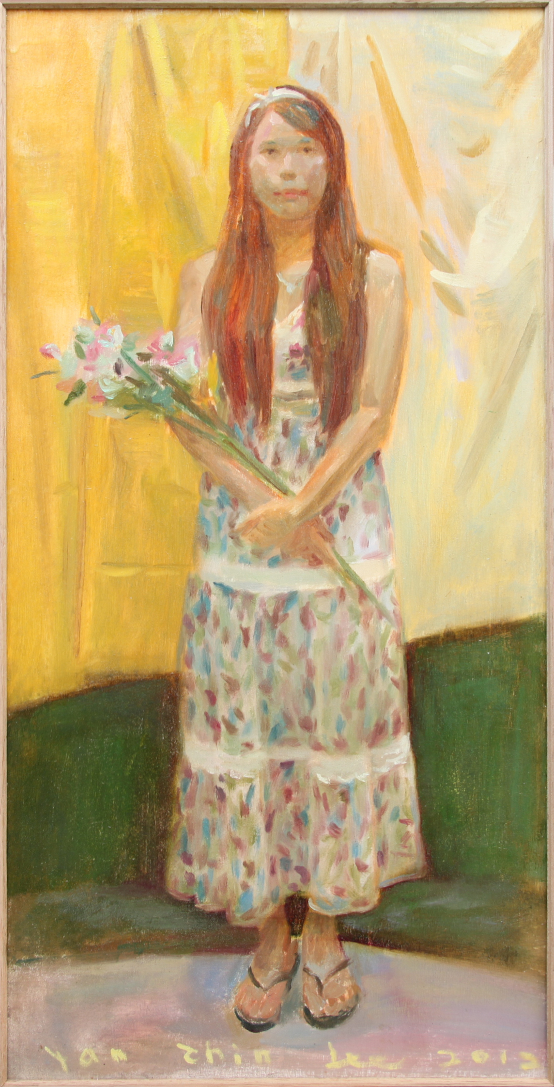 Standing Lady with Flower