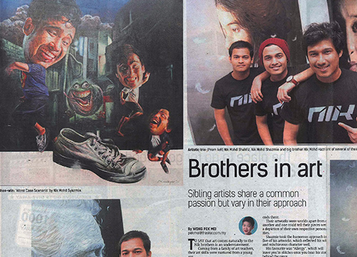 Art Trio: The Nik Brothers was listing in The Star on April 2015