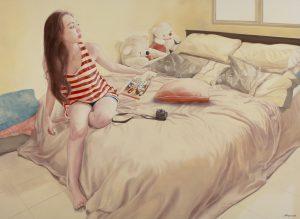Glance 136x180cm Oil on Canvas 2016 Chong Ai Lei