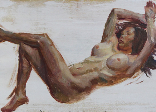 Reclining Nude facing Left