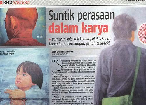 Solo Kedua – Solo Exhibition by Suddin Lappo was listing in Berita Harian on Dec 2014