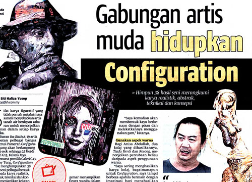 Configuration 2014 : Group Exhibition was listing in Berita Harian on May 2014