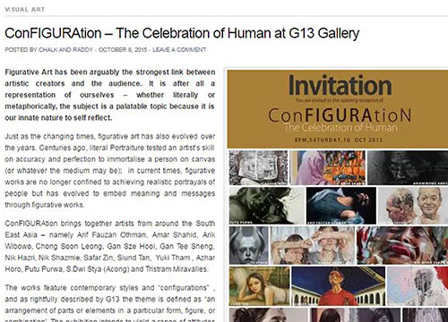 Configuration: The Celebration of Human was listing in Chalk and Raddy page on Oct 2015