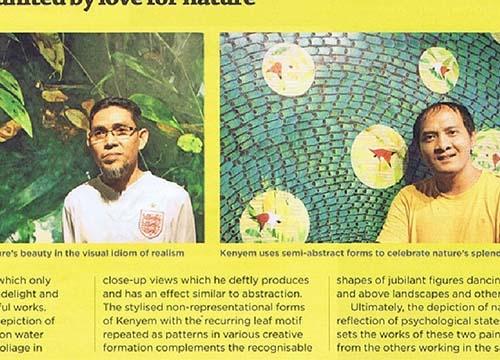 Solo Exhibition by Kenyem & Hamdan Shaarani was listing in Focus Malaysia on March 2013