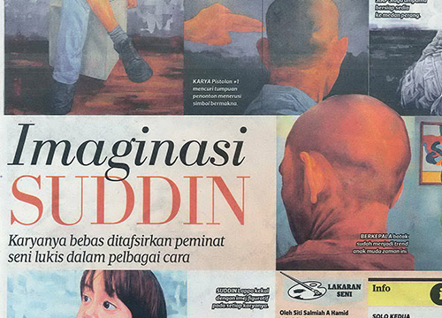 Solo Kedua – Solo Exhibition by Suddin Lappo was listing in Harian Metro on Dec 2014