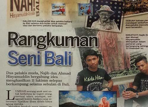 NAH Bali! – G13 Bali Residency Program Showcase was listing in Kosmo on Dec 2013