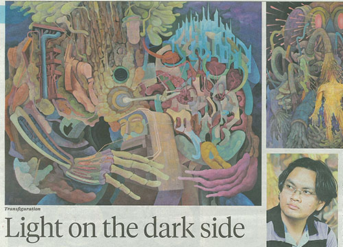Transfiguration- Solo Exhibition by Haslin Ismail was listing in New Sunday Times on June 2013