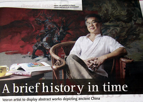 Rhapsodies Beyond the Silk Road- Solo Exhibition by Calvin Chua was listing in The Malay Mail on Nov 2013