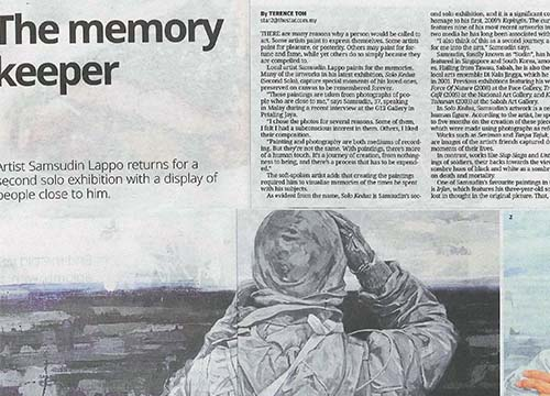 Solo Kedua – Solo Exhibition by Suddin Lappo was listing in The Star on Dec 2014