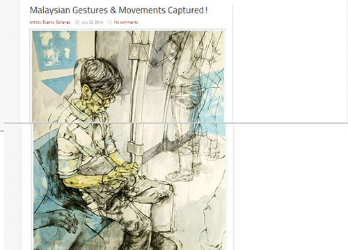 Senyap Dalam Gege- Solo Exhibition by Khairudin Zainudin was listing in Art Malaysia on July 2014