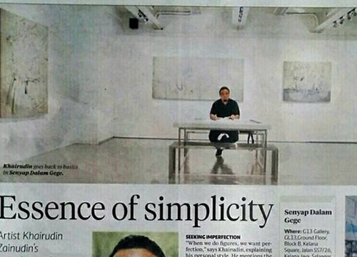 Senyap Dalam Gege- Solo Exhibition by Khairudin Zainudin was listing in New StraitsTimes on Sept 2014