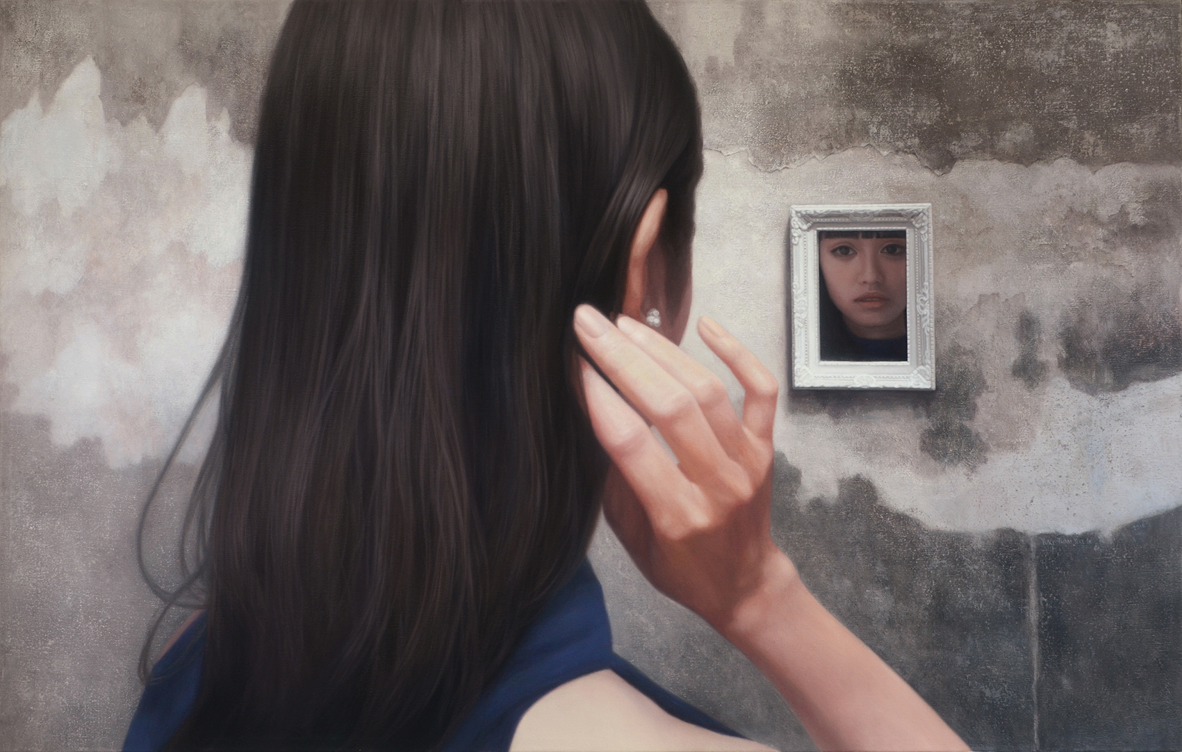 Who is in the mirror