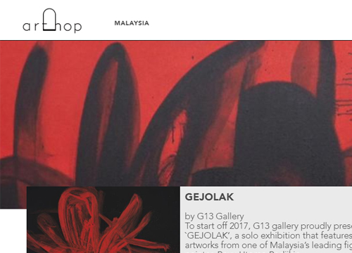 Gejolak : Solo Exhibition by Bayu Utomo Radjikin was listing in Art Hop on January 2017