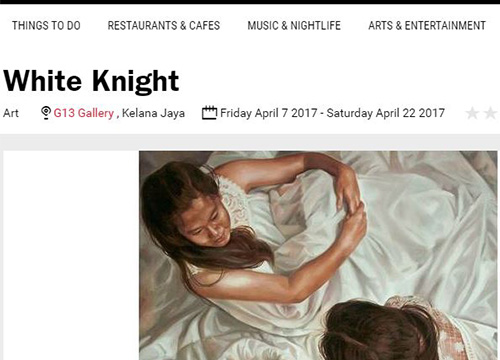 White Knight : Solo Exhibition by Raimi Sani was listing in Time Out on March 2017