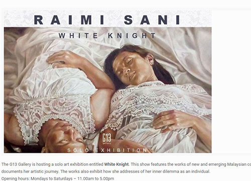 White Knight : Solo Exhibition by Raimi Sani was listing in Arts.com.my on March 2017
