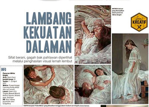 White Knight : Solo Exhibition by Raimi Sani was listing in Harian Metro on March 2017