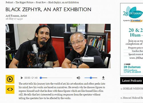 Arif Fauzan was interviewed by Lim Soon Heng from BFM Radio- For those who wish to download the audio file can head over to BFM website.