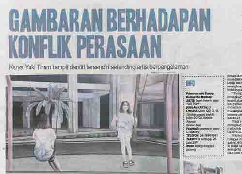 Beauty Behind The Madness – A solo exhibition by Yuki Tham was listing in Harian Metro on July 2017