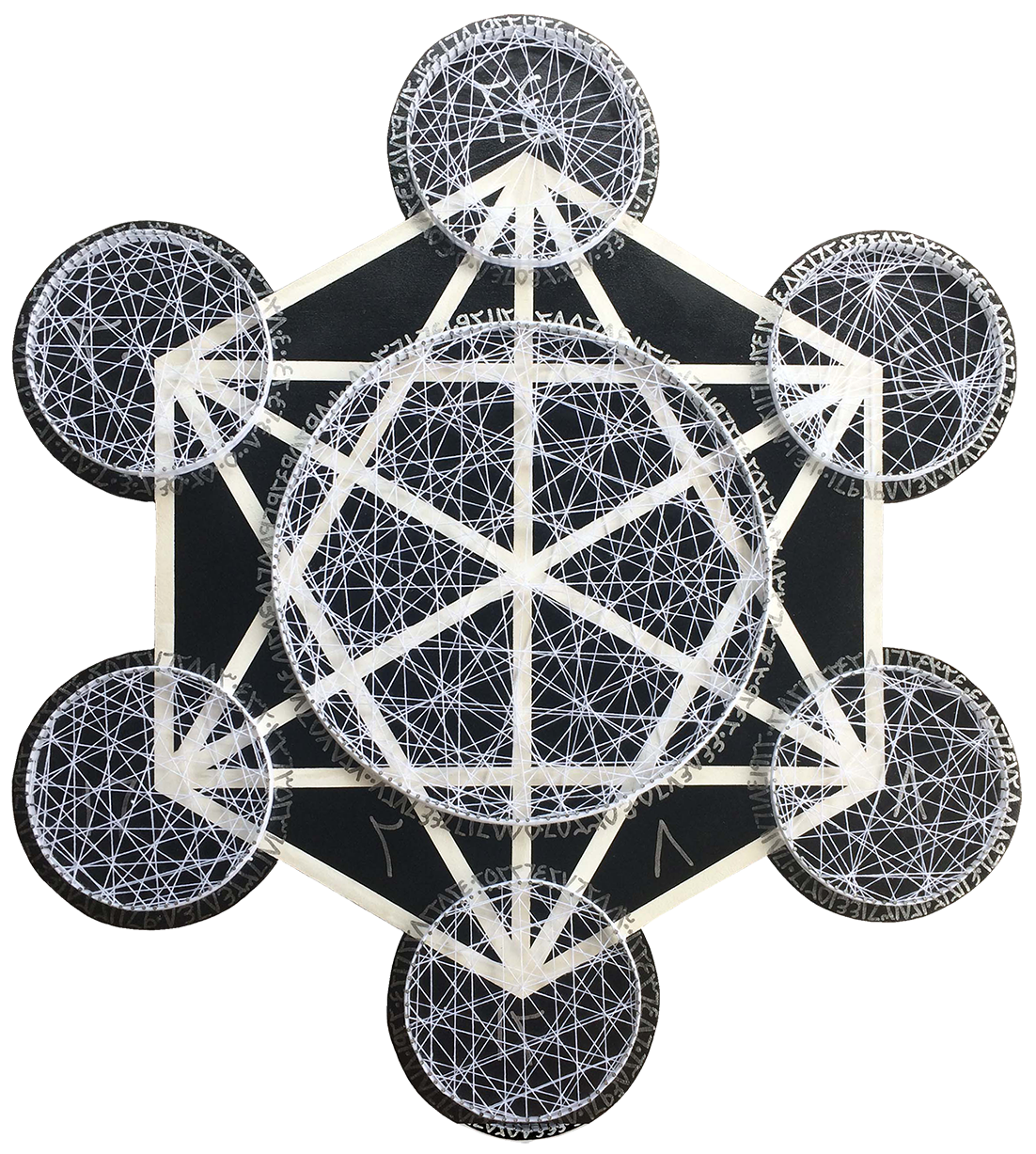Multiplication Time Table of Number Four in Metatron Cube