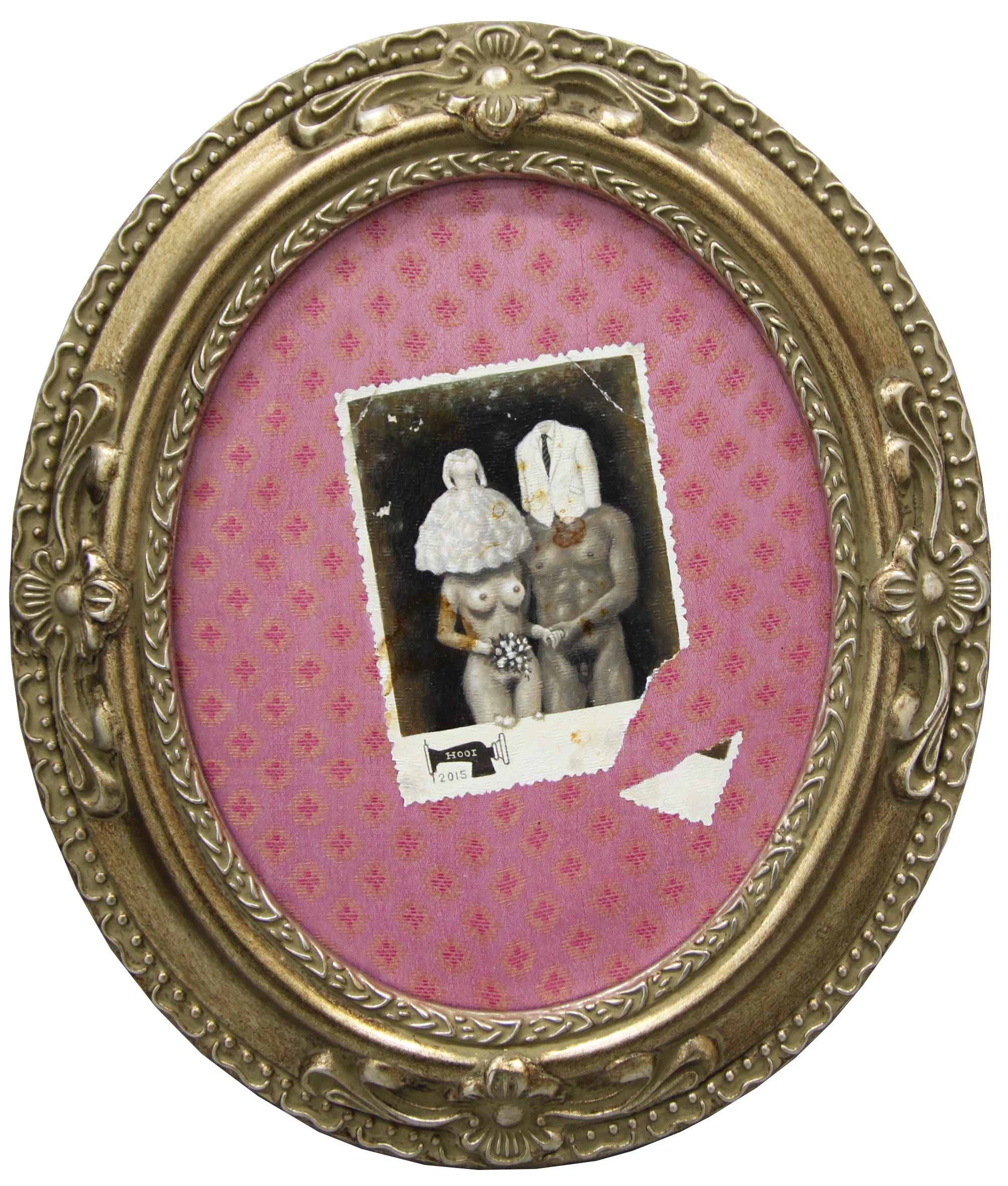 Old Photo Series- Young Couple with Wedding Clothes