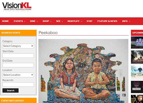 G13 Project Room – Peekaboo by Chong Soon Leong show was listing in Vision KL on November 2017