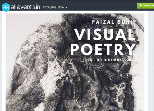 Visual Poetry by Faizal Suhif was listing in All Event.In on December 2017