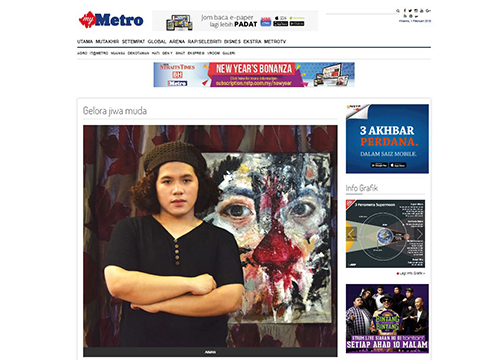 'Feral Withdrawal' by Aiman Zamri was listing in Harian Metro on February 2018