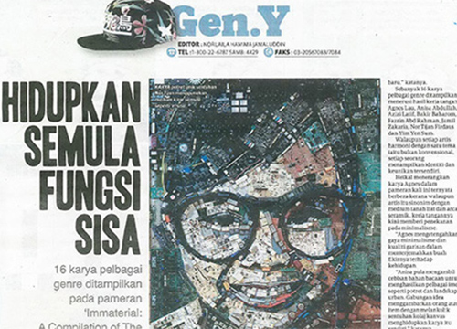 'Immaterial: A Compilation of the Unconventionals', a Showcase was listing in Harian Metro on March 2018