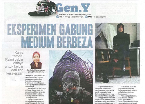 'Filling the Void: A Conversation between Man and Space', a Group Showcase was listing in Harian Metro on April 2018