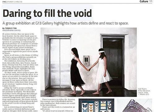 'Filling the Void: A Conversation between Man and Space', a Group Showcase was listing in Star 2 on April 2018