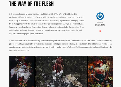 The Way of The Flesh, a Group Showcase from Philippines Artist was listing in GayaTravel.com on June 2018