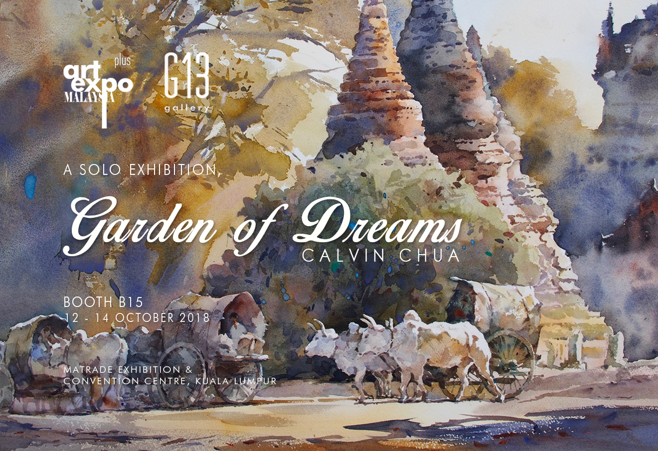 Garden of Dreams, A Solo Exhibition by Calvin Chua @ ART EXPO MALAYSIA 2018