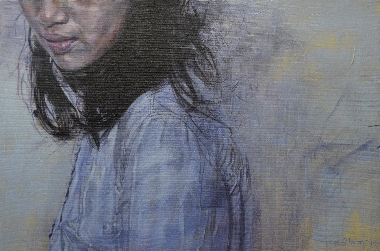 Study of Standing Girl, Beige Wall 2 – Nik Hazri