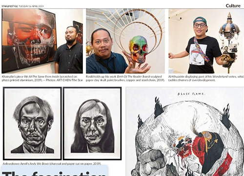 #SKULL, A group showcase was listing in The Star by Terence Toh on April 2019