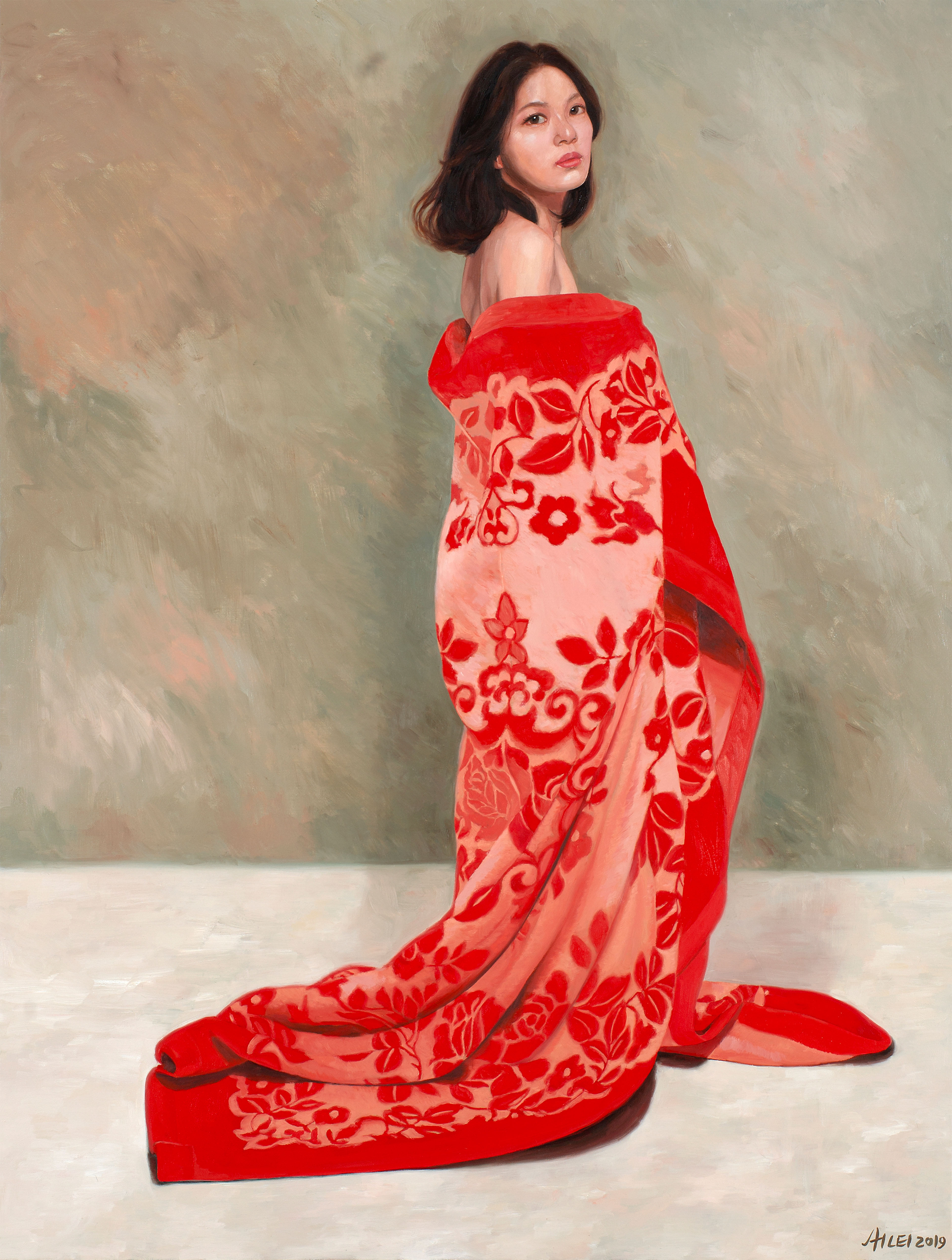 Girl in Red Blanket