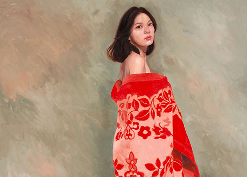 Girl in Red Blanket