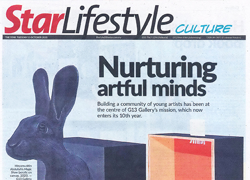 'Sedekad: G13 10th Anniversary Exhibition', was listing in The Star on October 2020